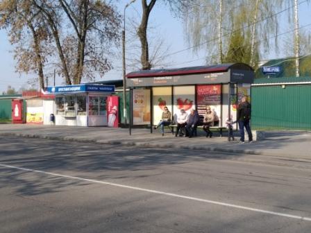 реклама на остановке учебная база Пинск