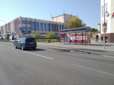 реклама на остановке ул. Белова (ГДК) сторона А