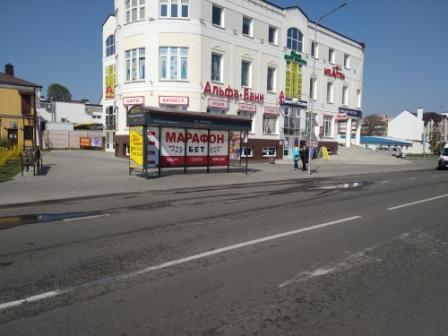 реклама на остановке ул. Белова (ГДК) сторона Б