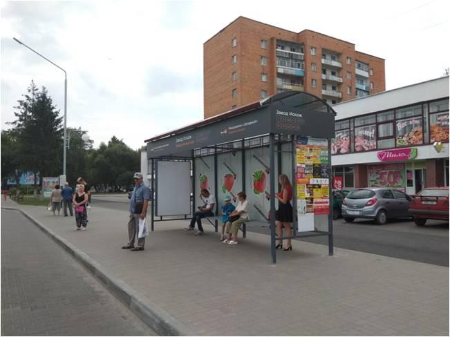 реклама на остановке ул. брестская, сторона А