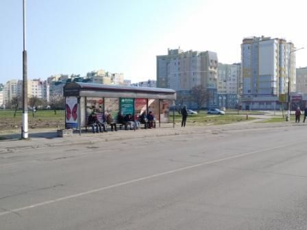реклама на остановке ул. лесопарк, сторона Б